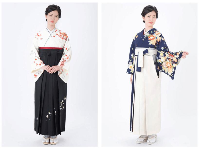 女性教師の卒業式袴